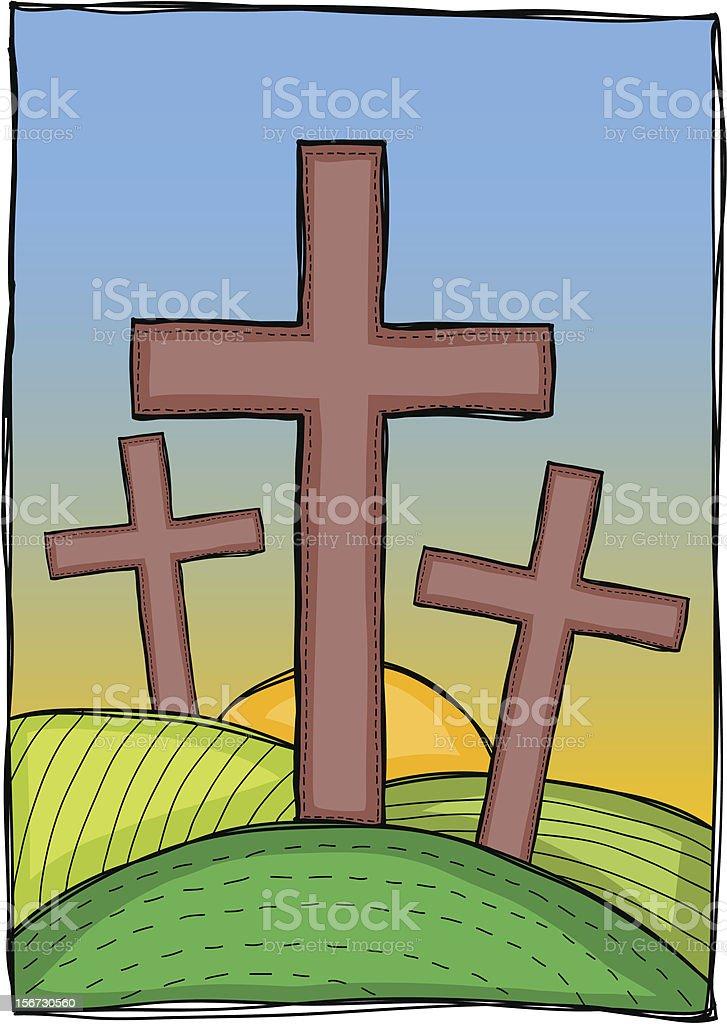 Religion - christian crosses royalty-free stock vector art
