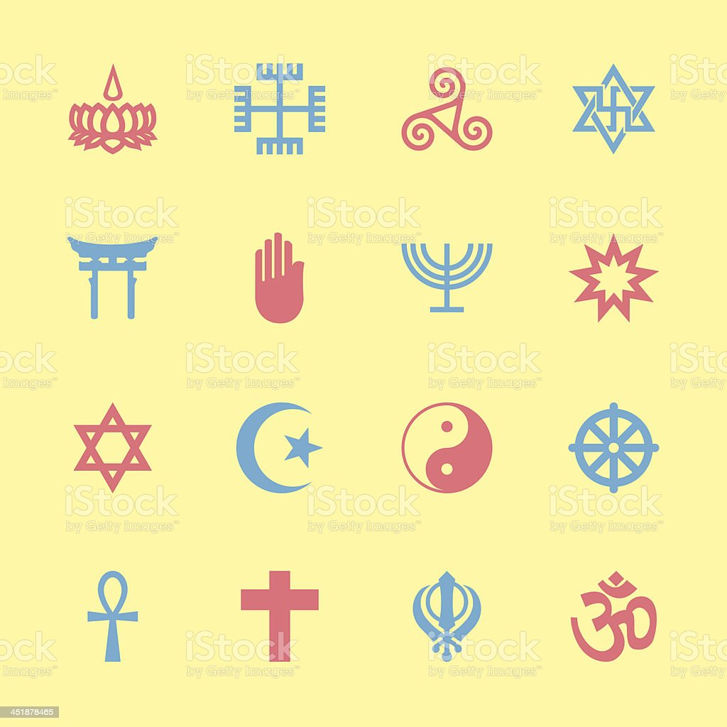 Religion Icons - Color Series | EPS10 royalty-free stock vector art