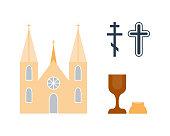 Religion icons vector illustration.