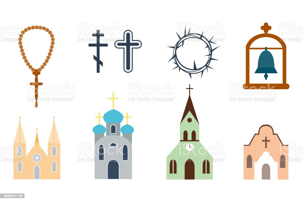 Religion icons vector illustration. vector art illustration