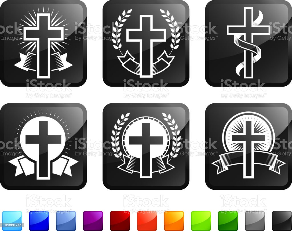 Religious Christian Imagery royalty-free vector graphics vector icon set stickers royalty-free stock vector art