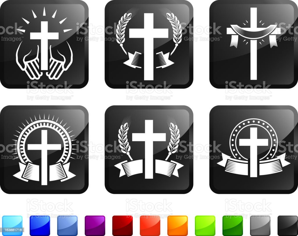 Religious Christian Imagery royalty-free vector graphics vector icon set stickers vector art illustration