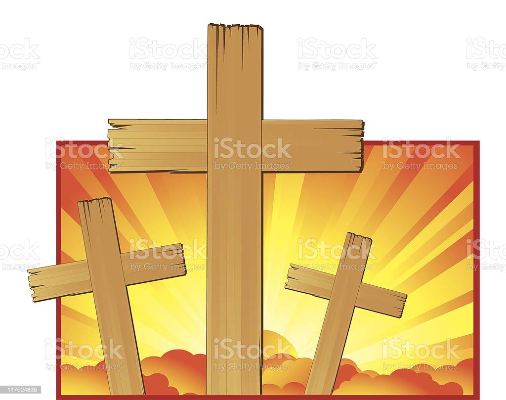 Religious Crosses royalty-free stock vector art