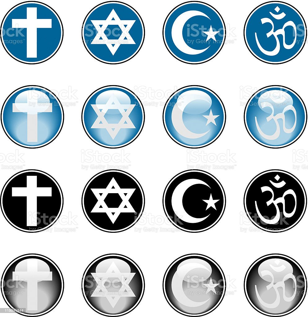 Religious Icons vector art illustration