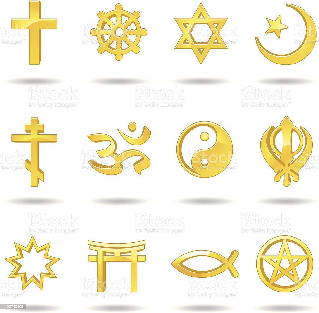 Religious symbols royalty-free stock vector art