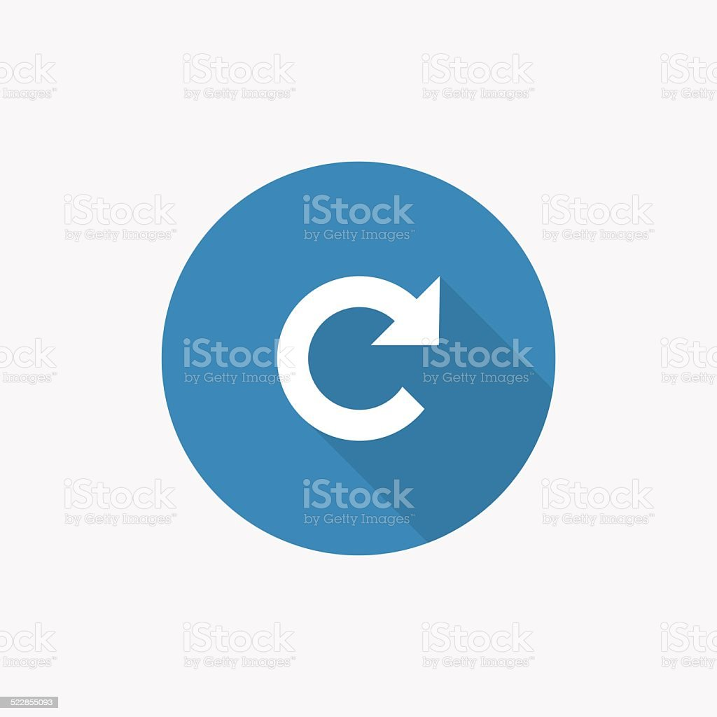 reload Flat Blue Simple Icon with long shadow vector art illustration