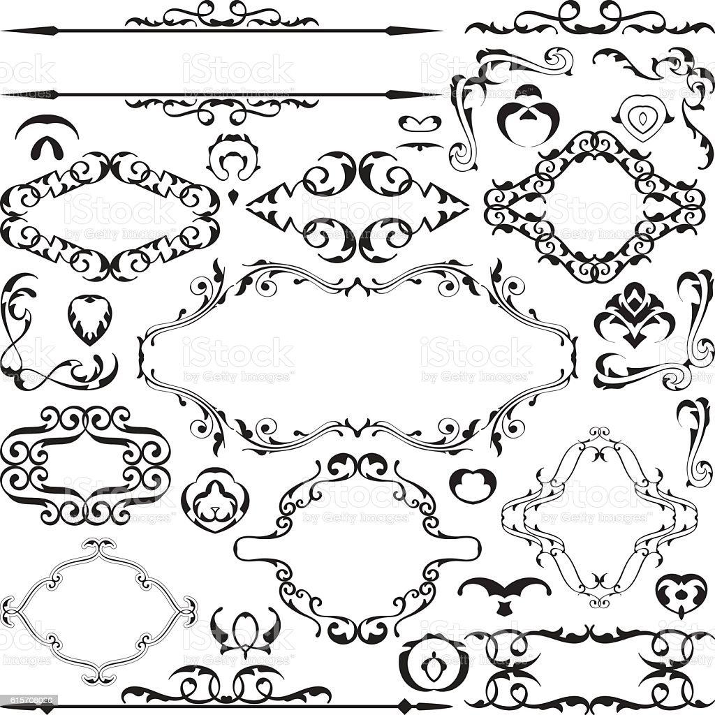 Remarkable vintage elements vector set vector art illustration