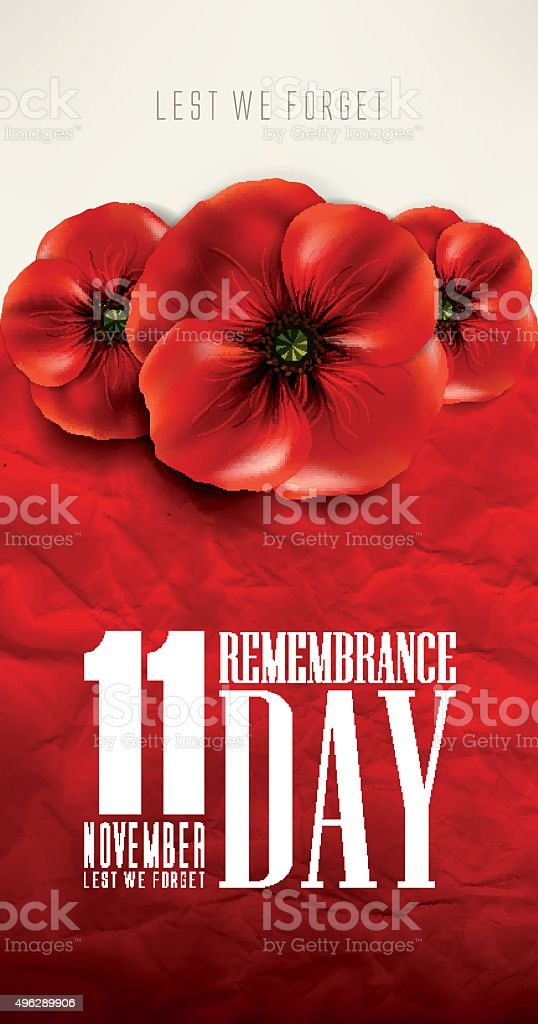 Remebrance day ,Veteran's Day, anzac day vector art illustration