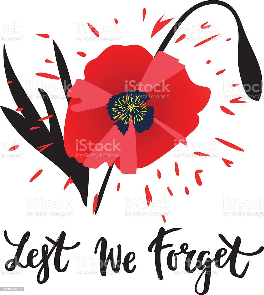 Remembrance day vector art illustration