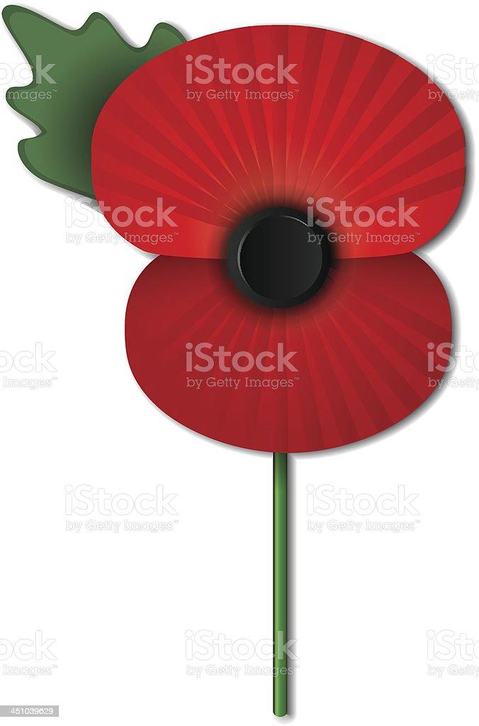 Remembrance poppy vector art illustration
