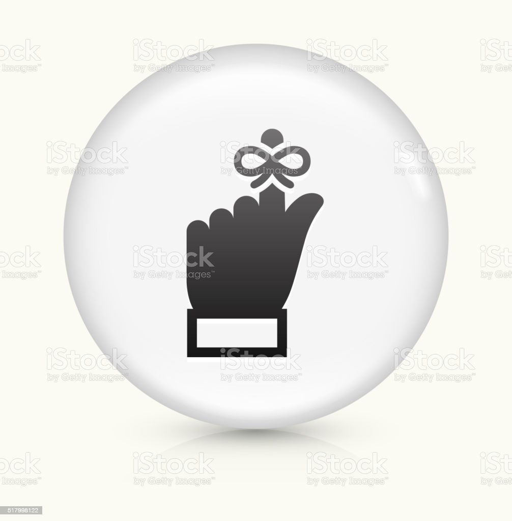 Reminder icon on white round vector button vector art illustration