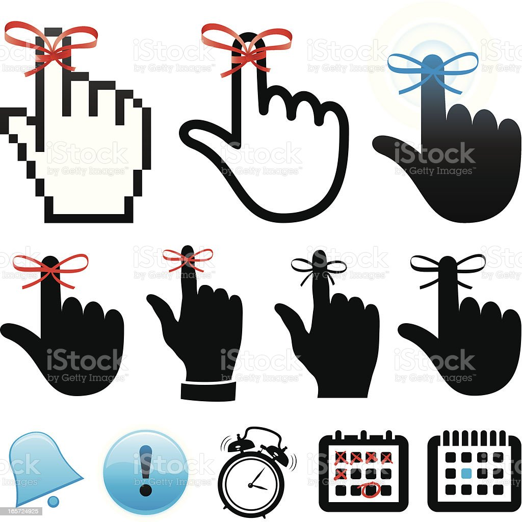 Reminder icons royalty-free stock vector art