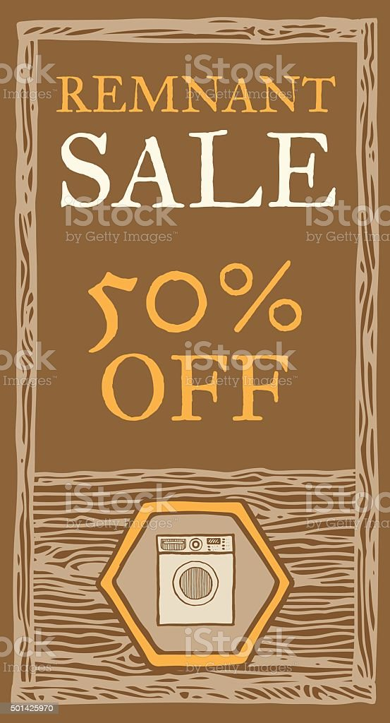 Remnant sale flyer vector art illustration