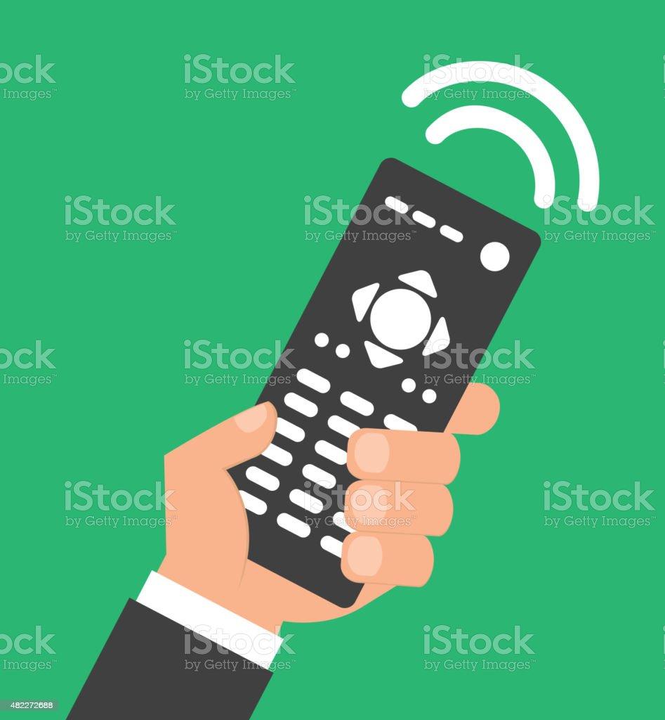 remote control vector art illustration