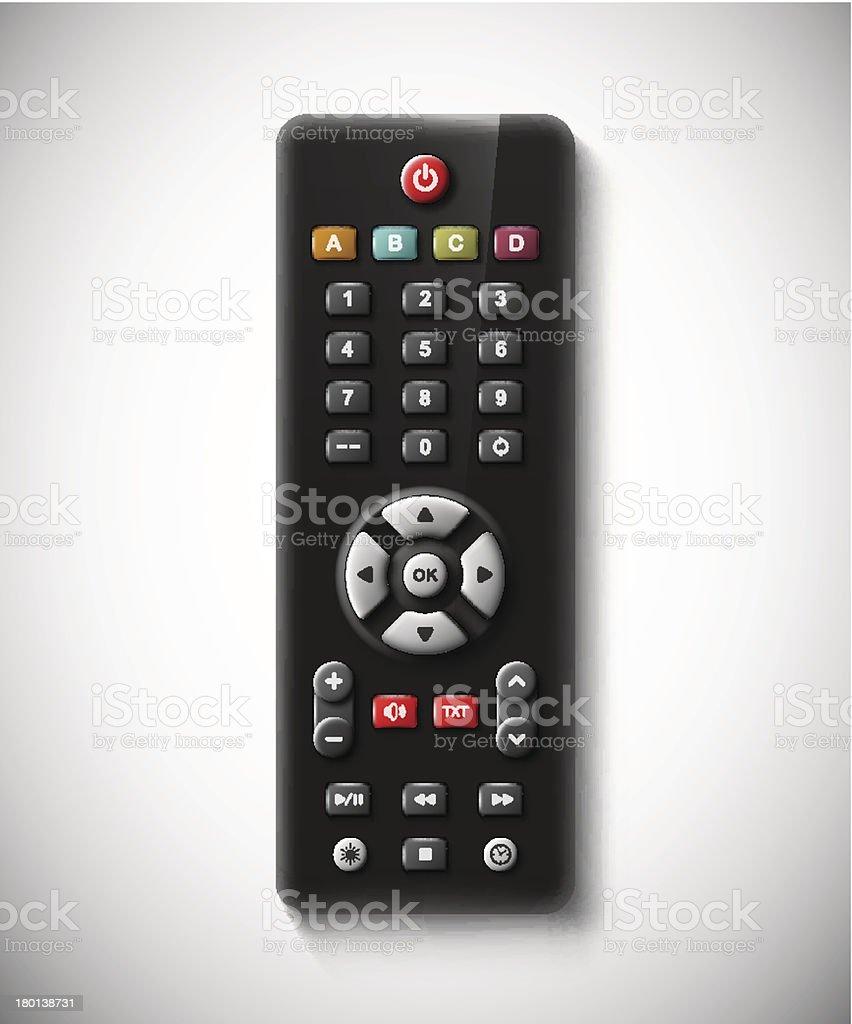 TV remote vector art illustration