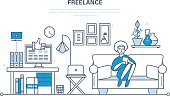 Remote work as a freelancer, workplace, tools, working space.