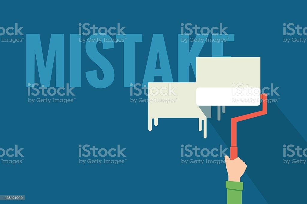 removing mistake vector art illustration