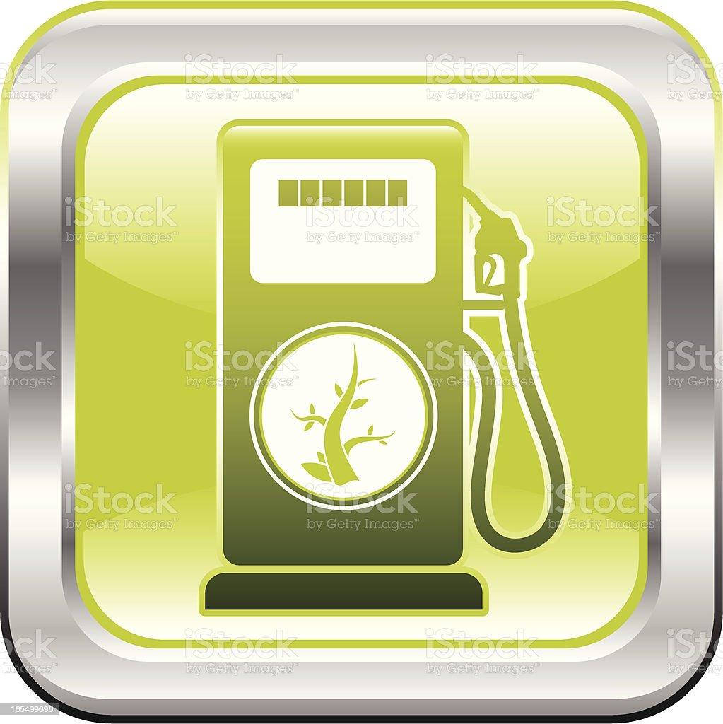 Renewable Biofuel Icon vector art illustration