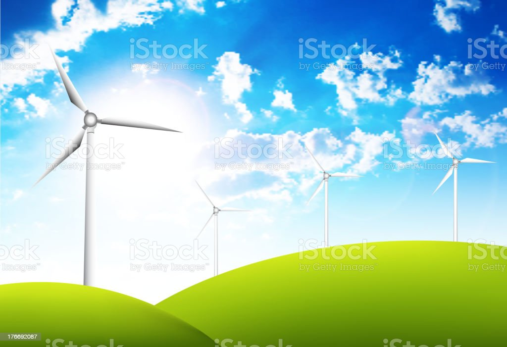 Renewable energy concept royalty-free stock vector art