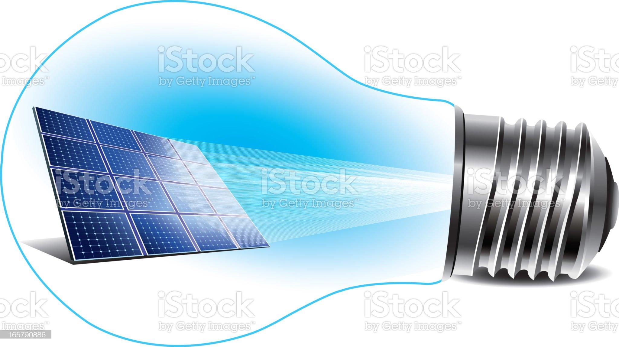 Renewable Energy - Solar Panel royalty-free stock vector art