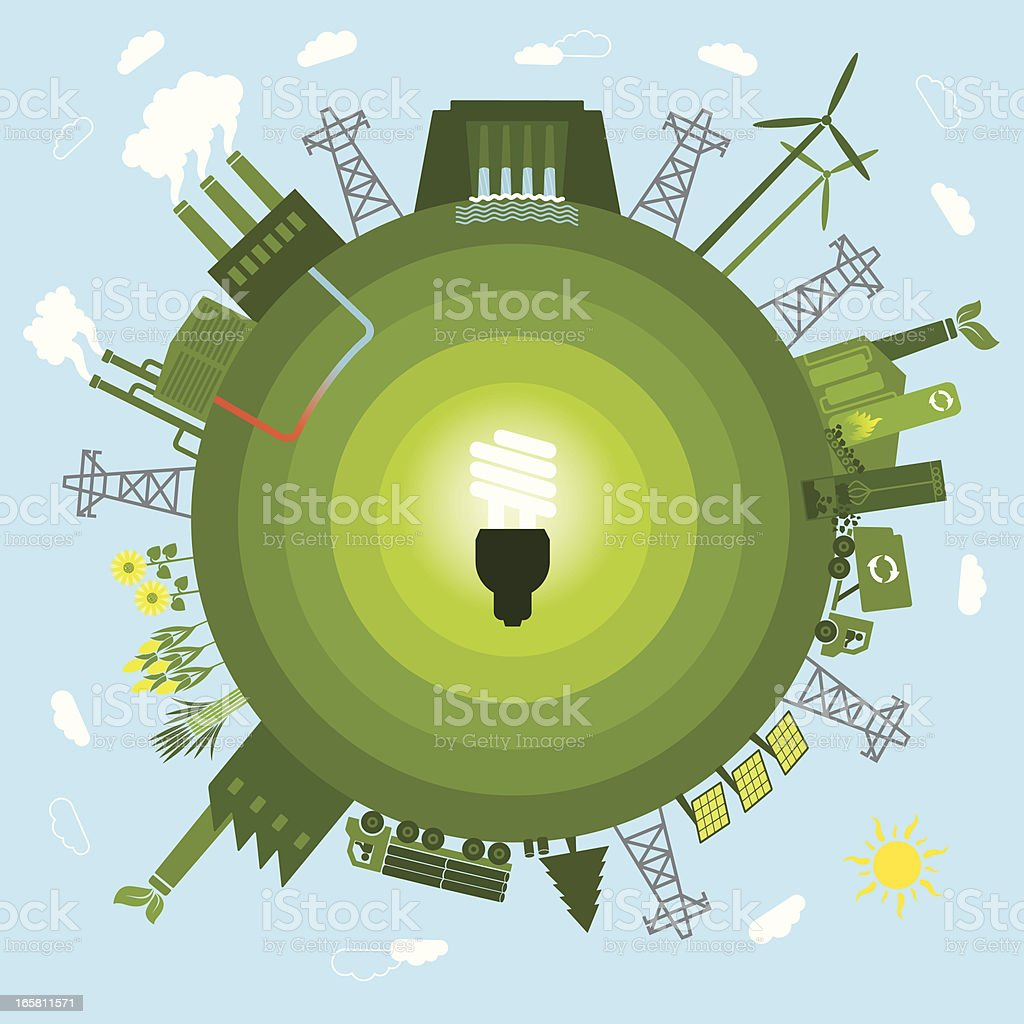 Renewable Energy royalty-free stock vector art