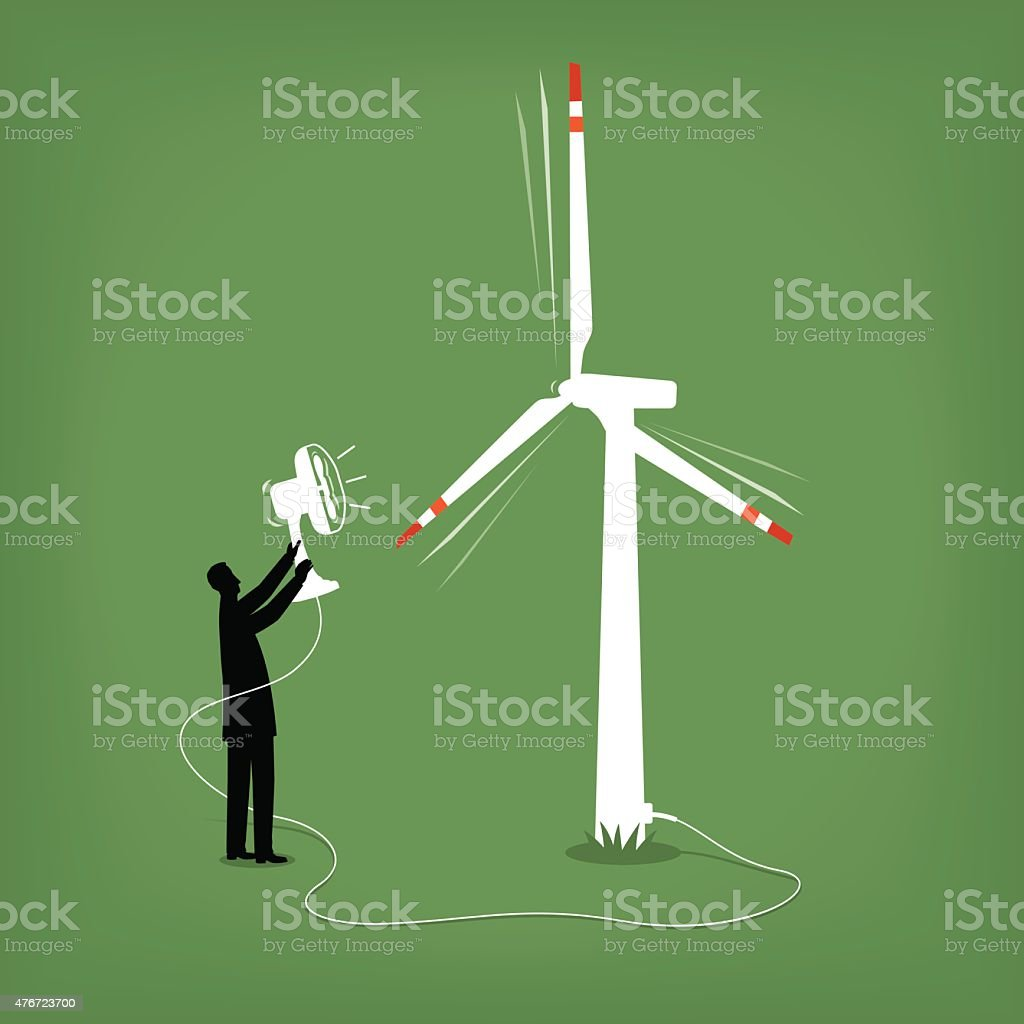 Renewable Energy vector art illustration