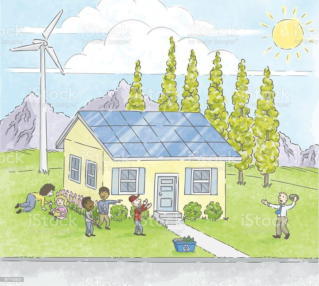 Renewable Family royalty-free stock vector art