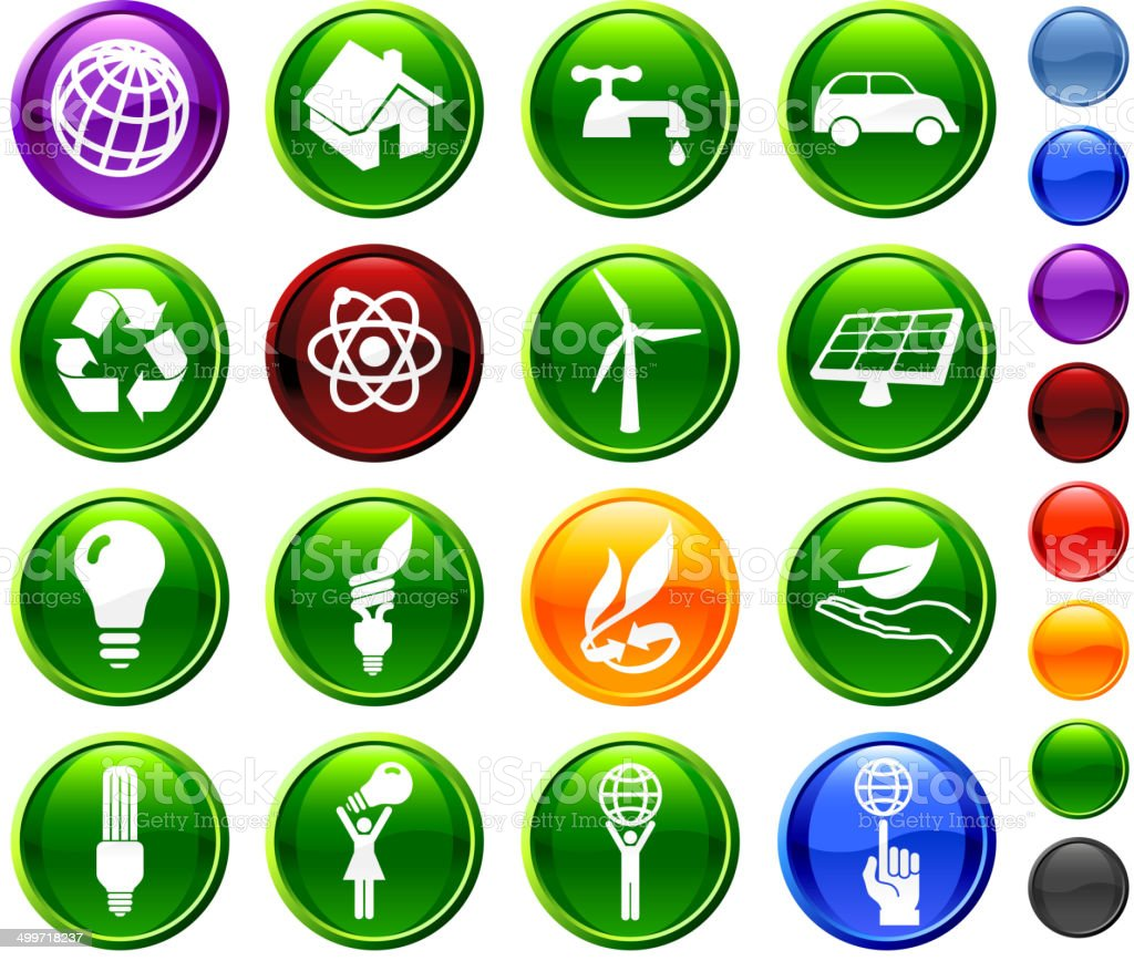 Renewable Resources and Environment royalty-free vector arts on Collection vector art illustration