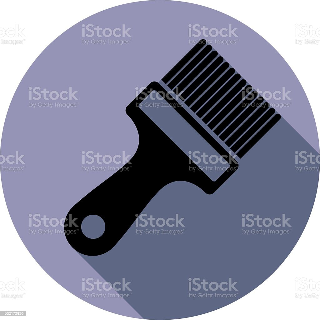 Renovation instrument used in painting, paint brush. vector art illustration