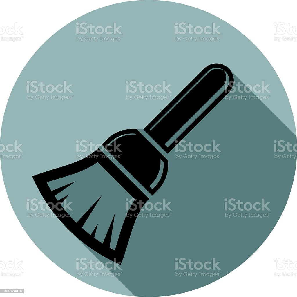 Renovation instrument used in whitewash, brush for wall painting vector art illustration