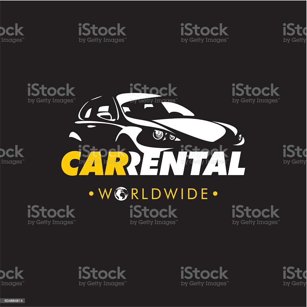 rent a car logo vector art illustration
