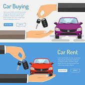 Rent amd Buying Car Banner