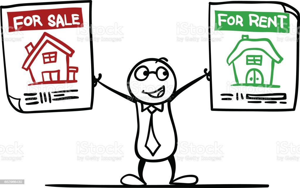 Rent or Sale? vector art illustration