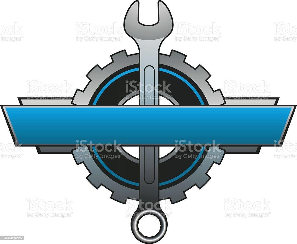 Repair Banner Logo vector art illustration