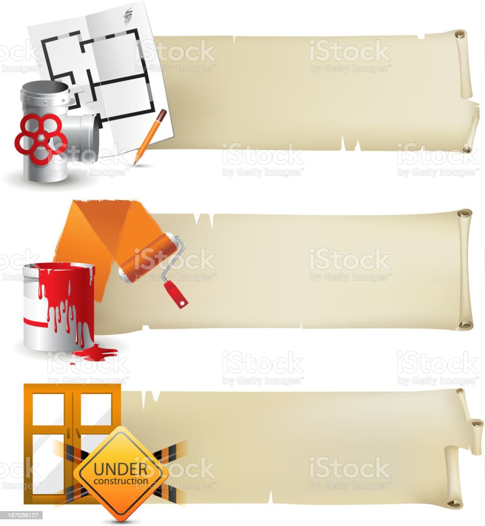 Repair banners royalty-free stock vector art