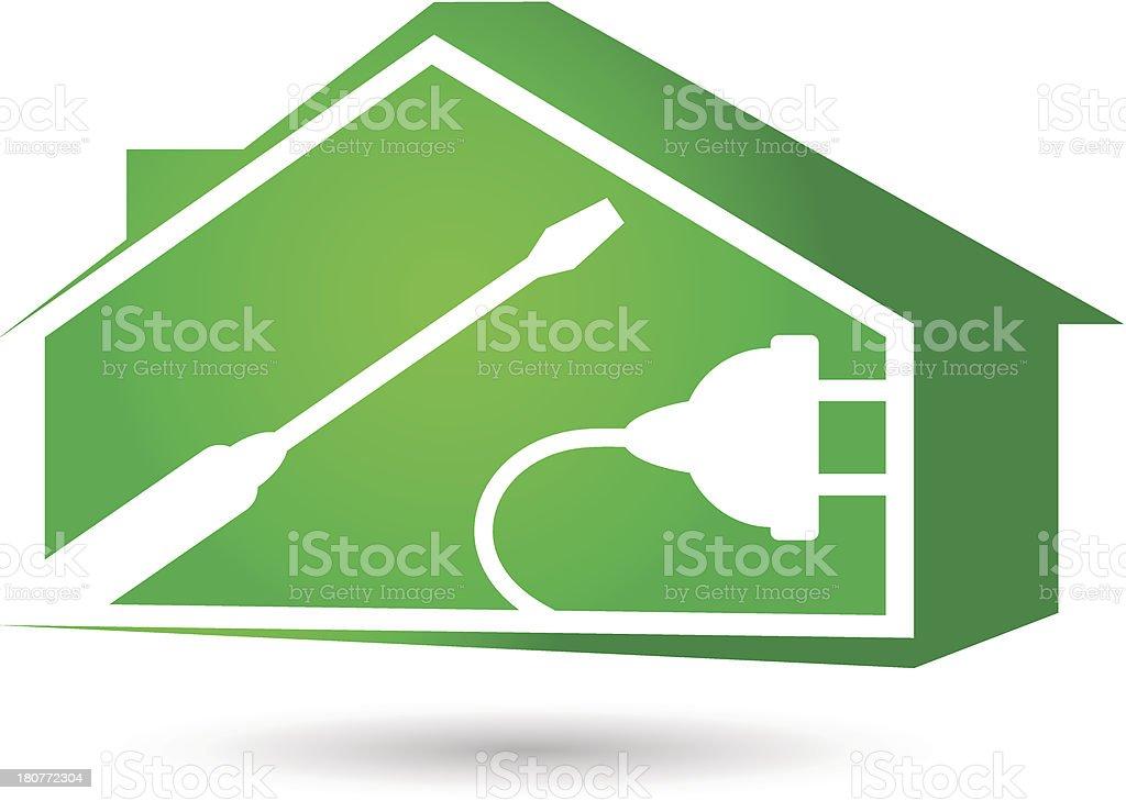 repair electricity royalty-free stock vector art