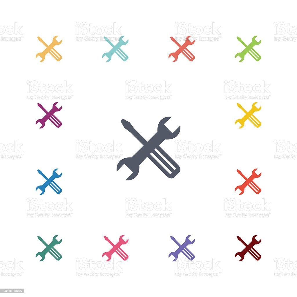 repair flat icons set vector art illustration