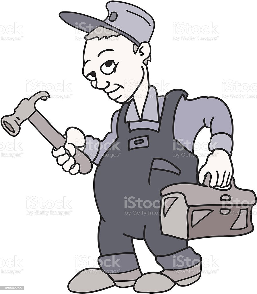Repair Guy vector art illustration