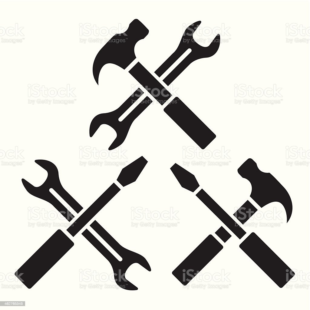 Repair icons vector art illustration