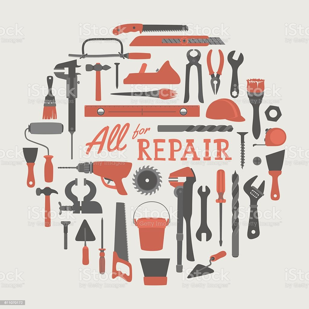 Repair Objects vector art illustration