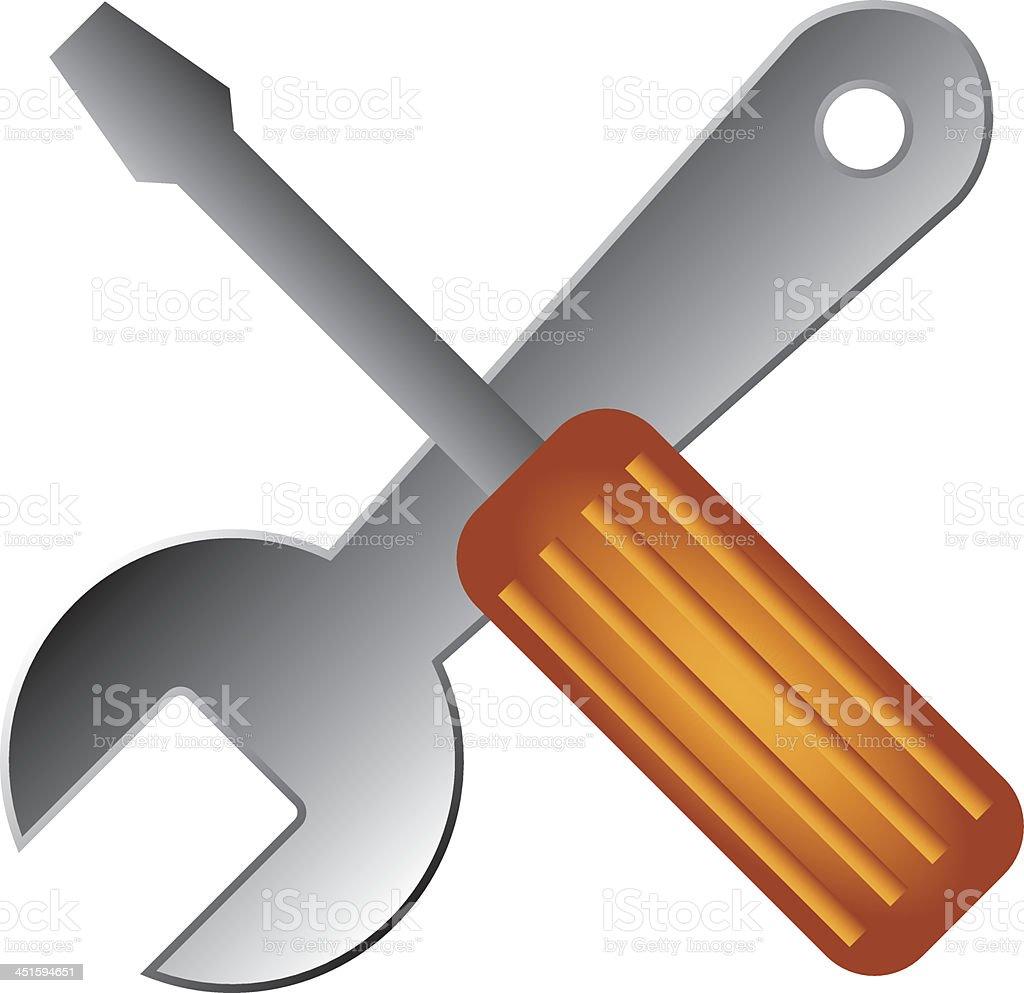 Repair Spanner royalty-free stock vector art
