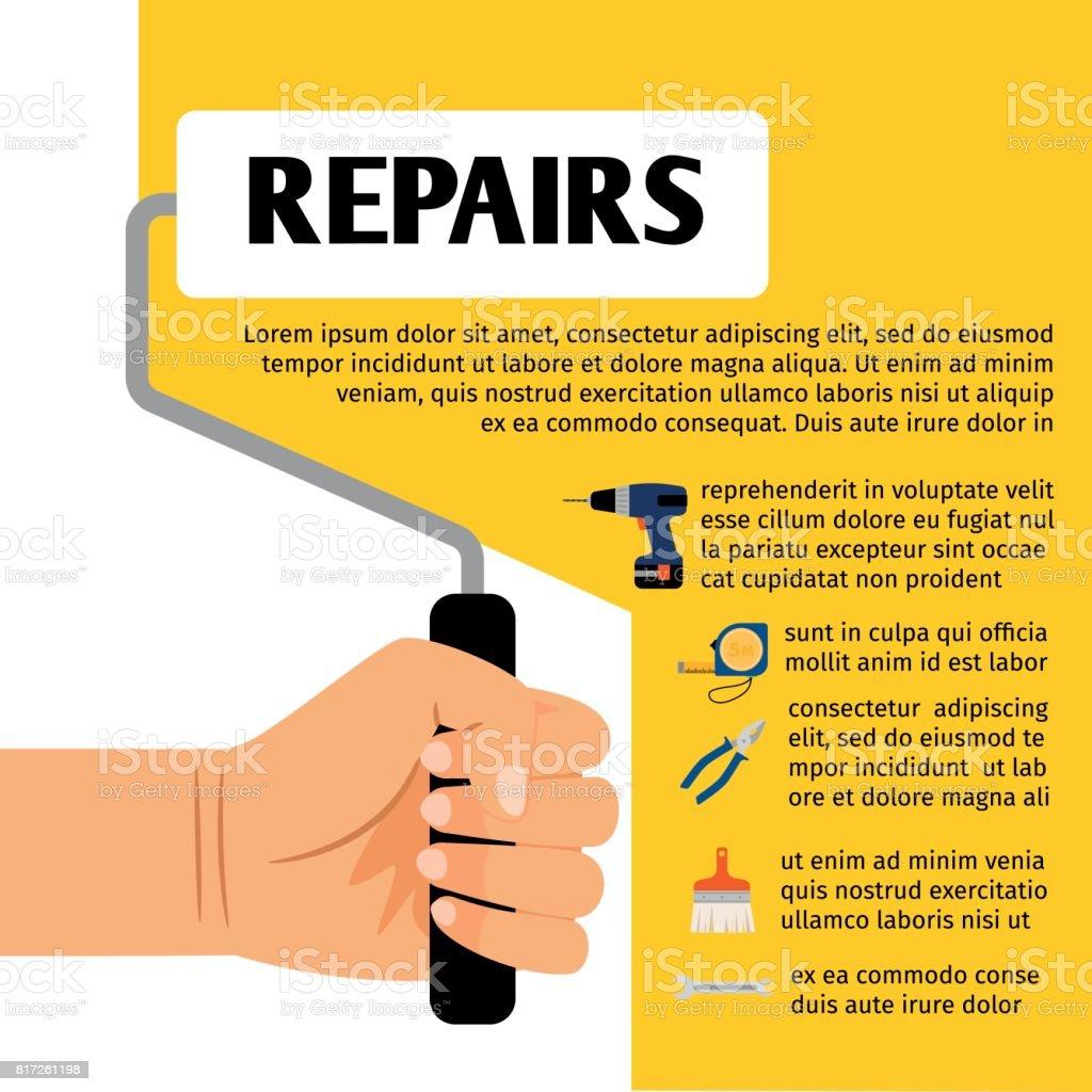 Poster design tools - Repair Tools Poster Design Royalty Free Stock Vector Art