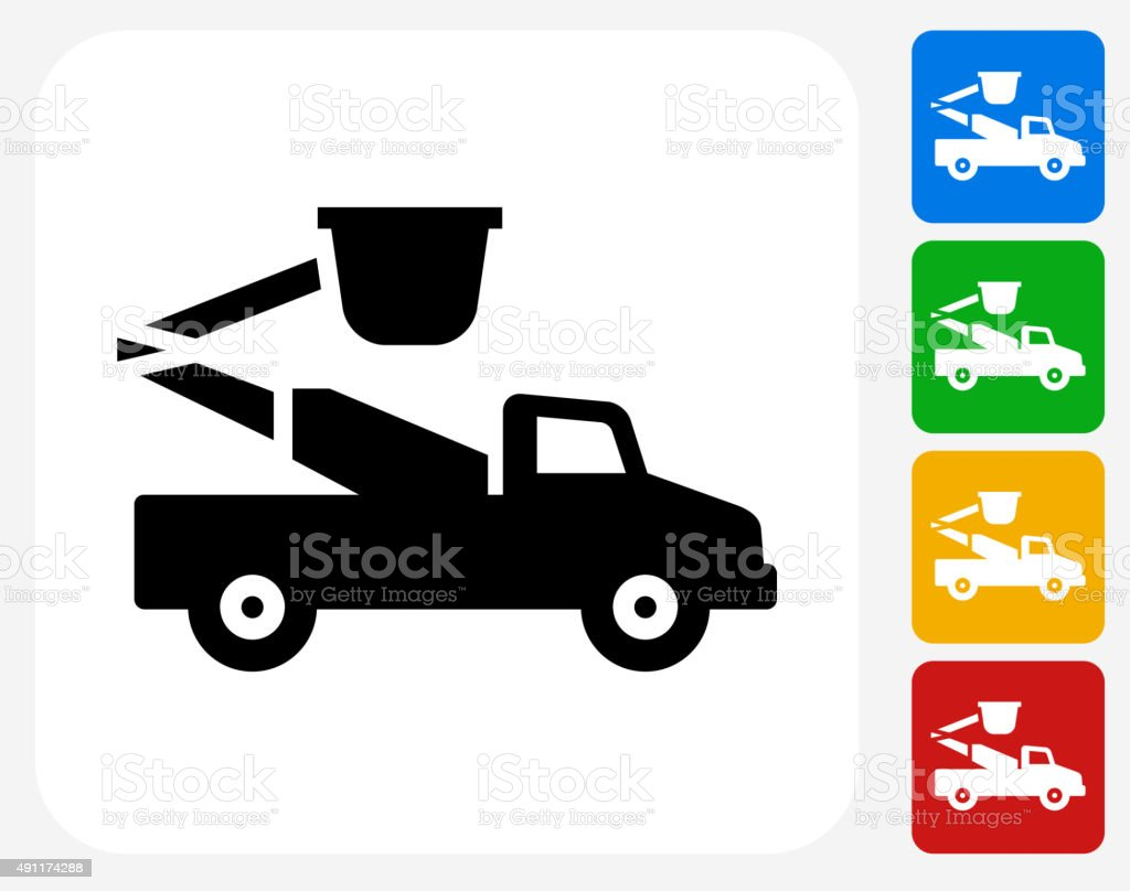 Repair Truck Icon Flat Graphic Design vector art illustration