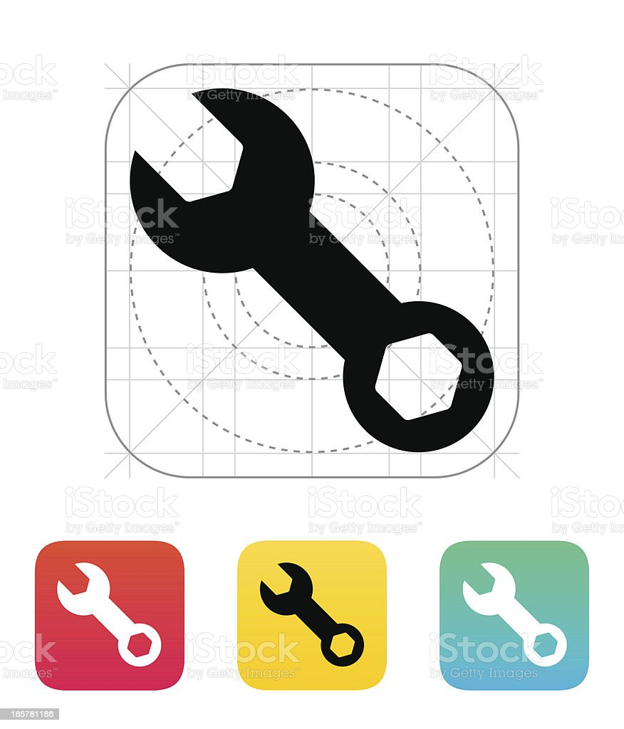 Repair Wrench icon. royalty-free stock vector art