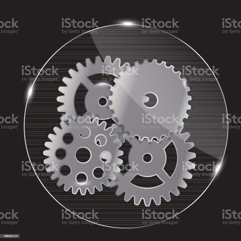Repairing glass button, vector illustration royalty-free stock vector art