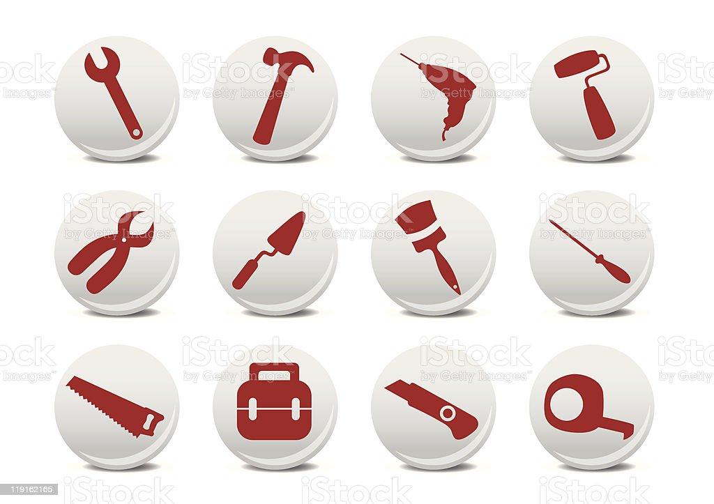Repairing tools icon set royalty-free stock vector art