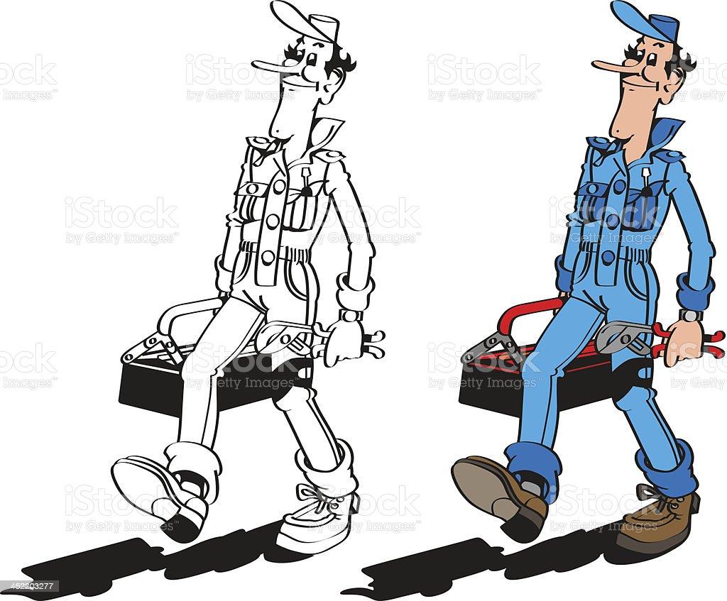 Repairman royalty-free stock vector art