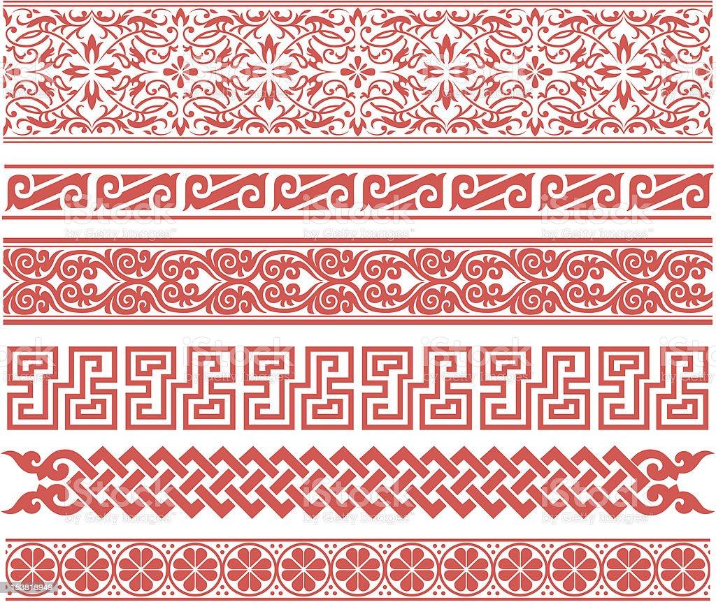 Ripetute astratto floreale bordo illustrazione royalty-free