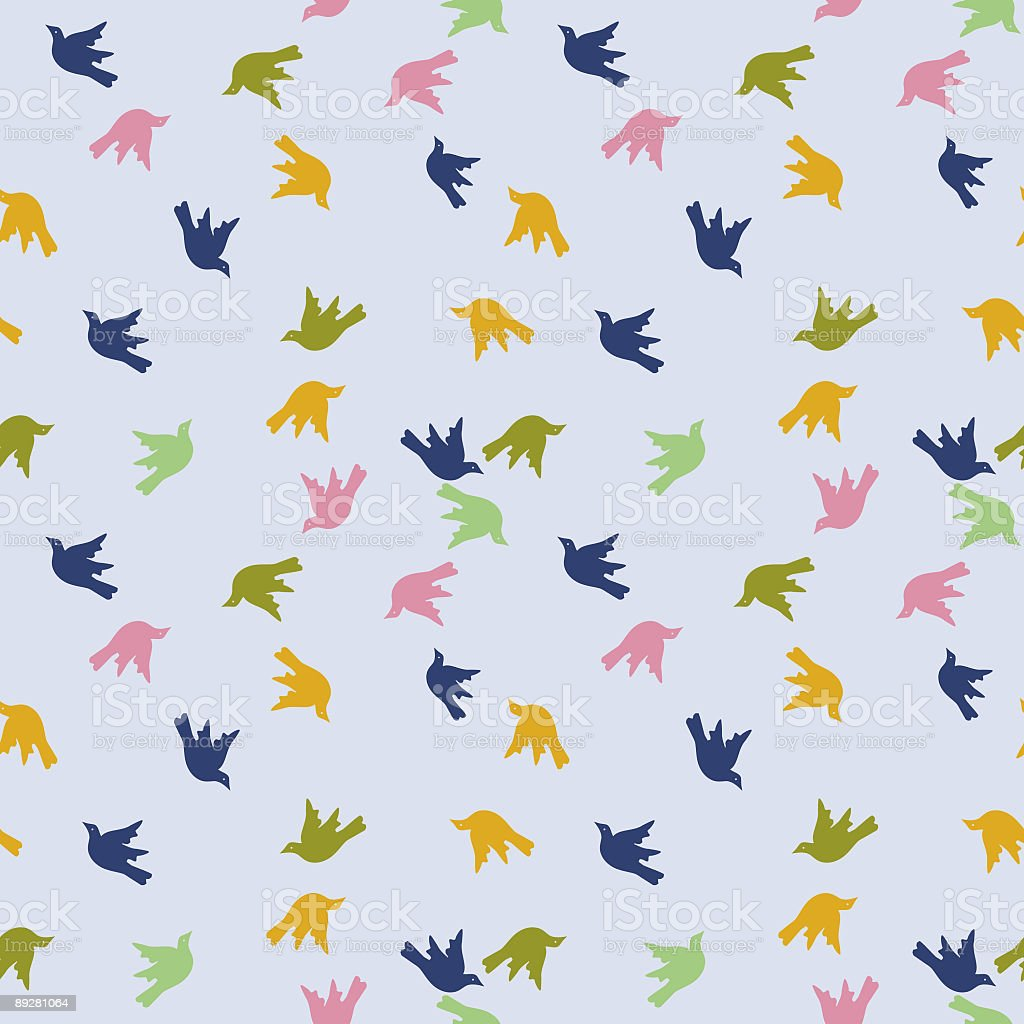 Repeating Birds Pattern royalty-free stock vector art