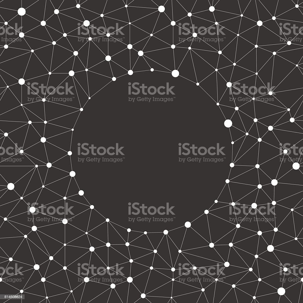 Repeating geometric triangle line with dots on the nodes vector art illustration
